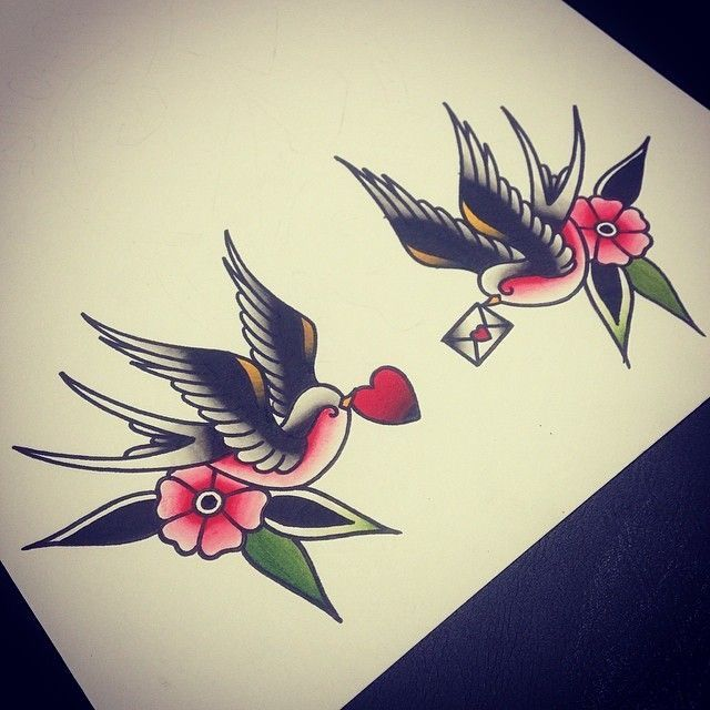 love sparrow tatt idea