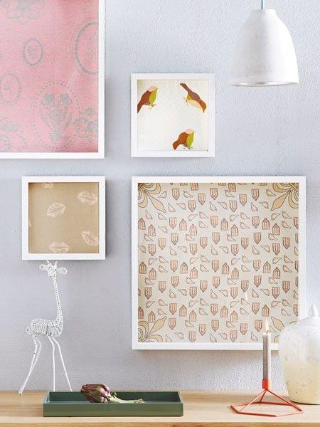 Gib Stoff, Baby! Die schönsten Muster gehören natürlich eingerahmt und an die Wand ...