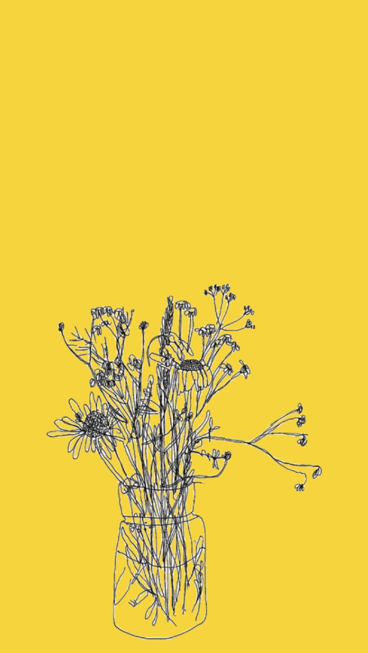 Yellow fall flowers ★ iPhone wallpaper