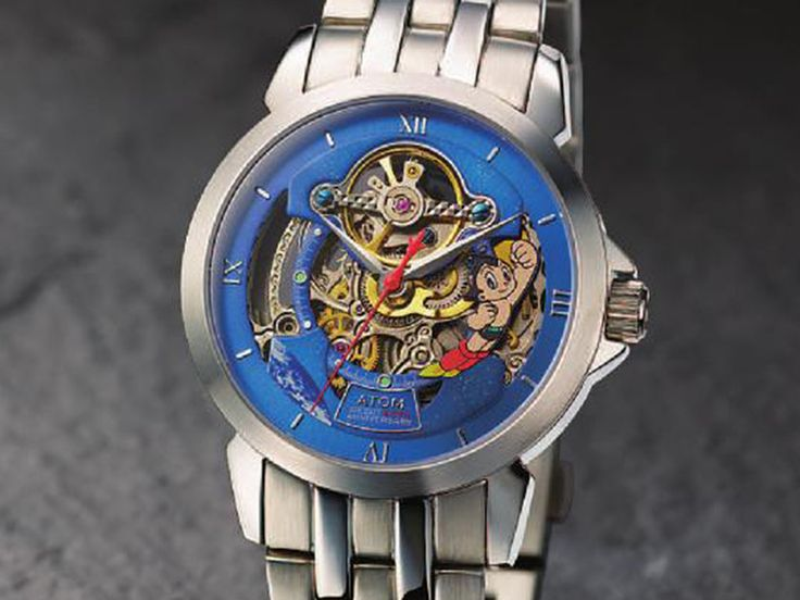 ASTRO BOY Mighty Atom TIME Watch Metallic Band M 60th Anniversary Osamu Tezuka 1952 pcs Limited-01