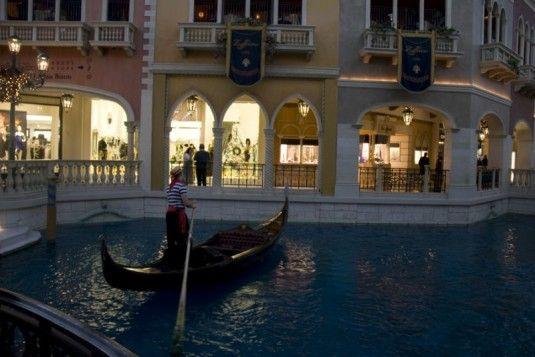 10 coisas românticas para fazer em Las Vegas - Passeio de gôndola no The Venetian