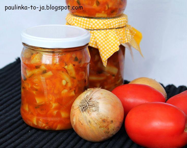 Smak mojej kuchni...: Fasolka szparagowa w sosie pomidorowym na zimę
