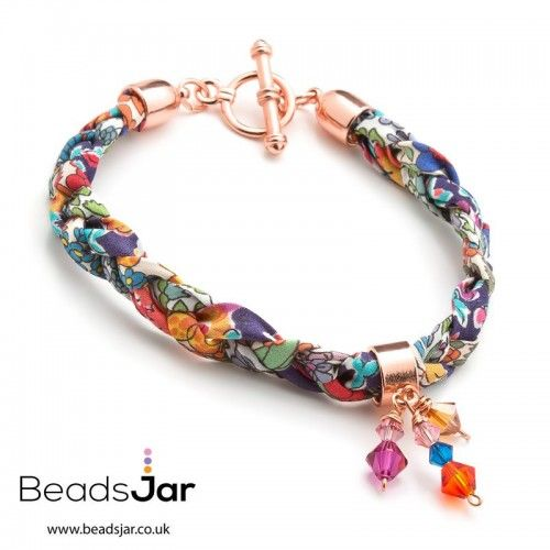 Want To Learn How To Make This Stunning Plaited Liberty Of London And  Swarovski Crystal Bracelet