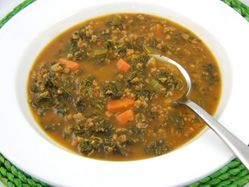 Hearty kale soy soup
