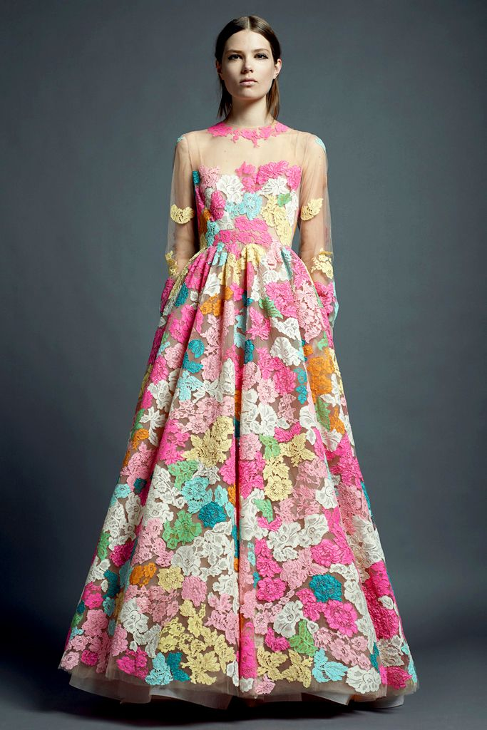 dyed lace by valentino: Valentino Resorts, Runway Fashion, Floral Prints, Flowers Dresses, Fashion Week, Resorts 2013, Resorts Wear, Fashion Spring, Floral Dresses