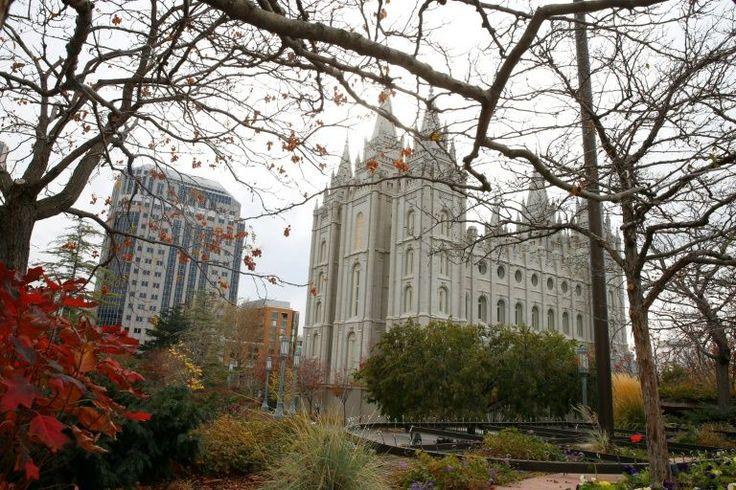 O histórico Templo Mórmon de Salt Lake City,