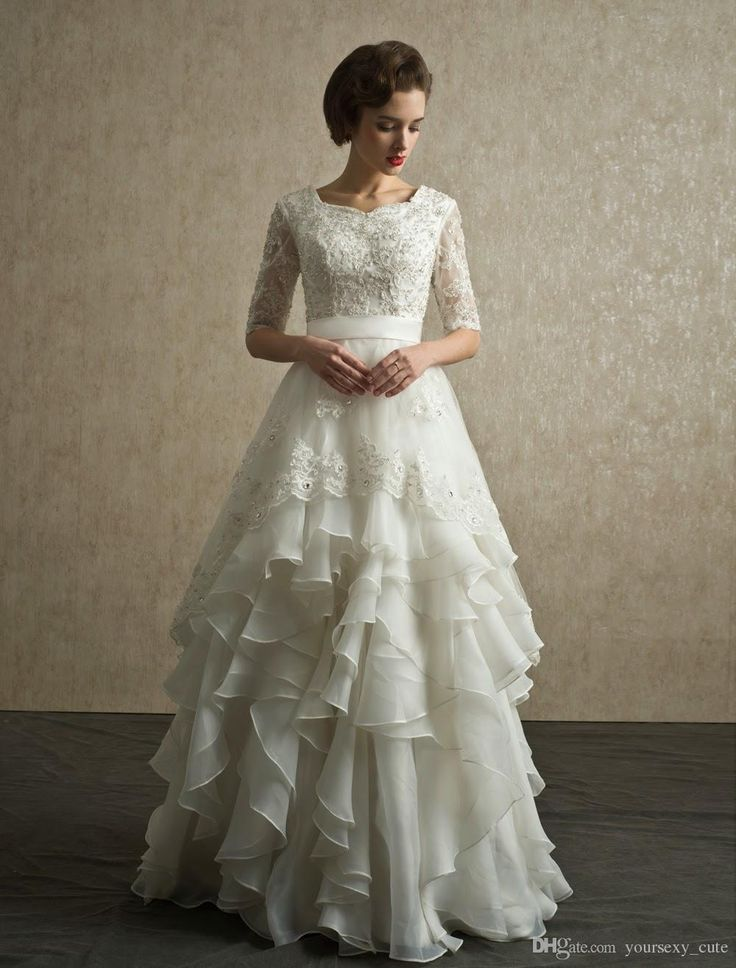 Layered Wedding Dress With Sleeves : Layered wedding dresses on spring