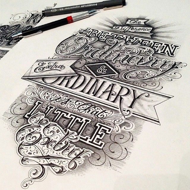 Instagram photo by typographyinspired the difference Difference between calligraphy and typography