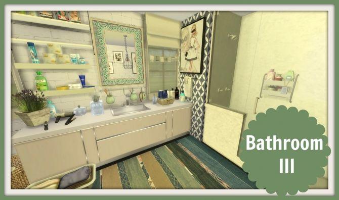 Bathroom III at Dinha Gamer • Sims 4 Updates