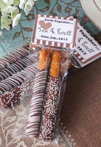 Personalized Bridal Chocolate Covered Pretzel Sticks ...