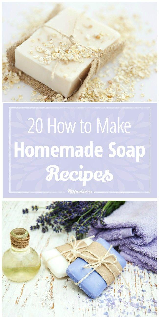 Homemade soap recipes. Great gift idea!