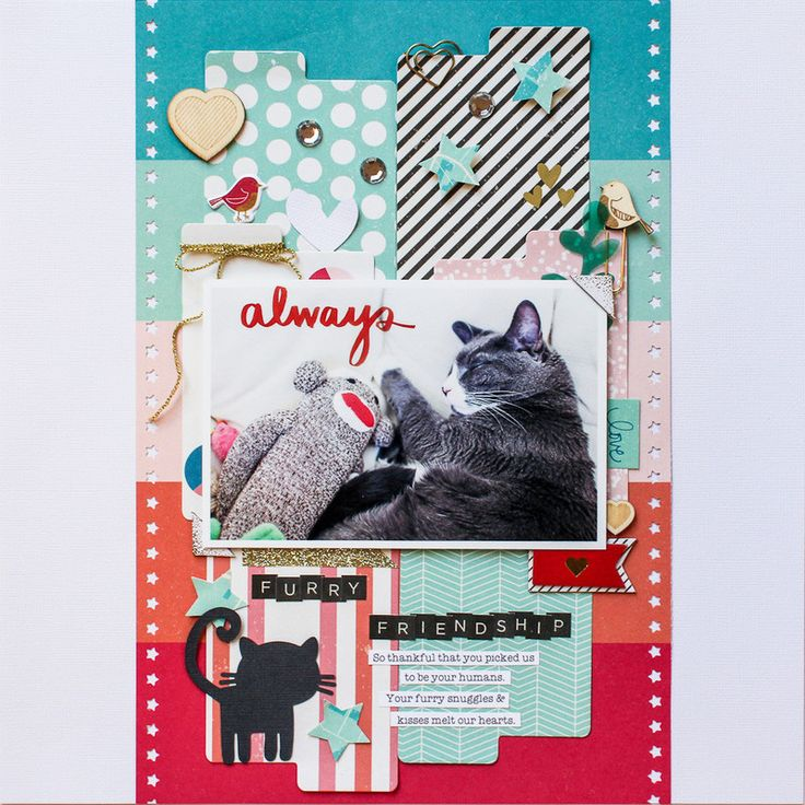 Furry Friendship (American Crafts) by listgirl at @studio_calico