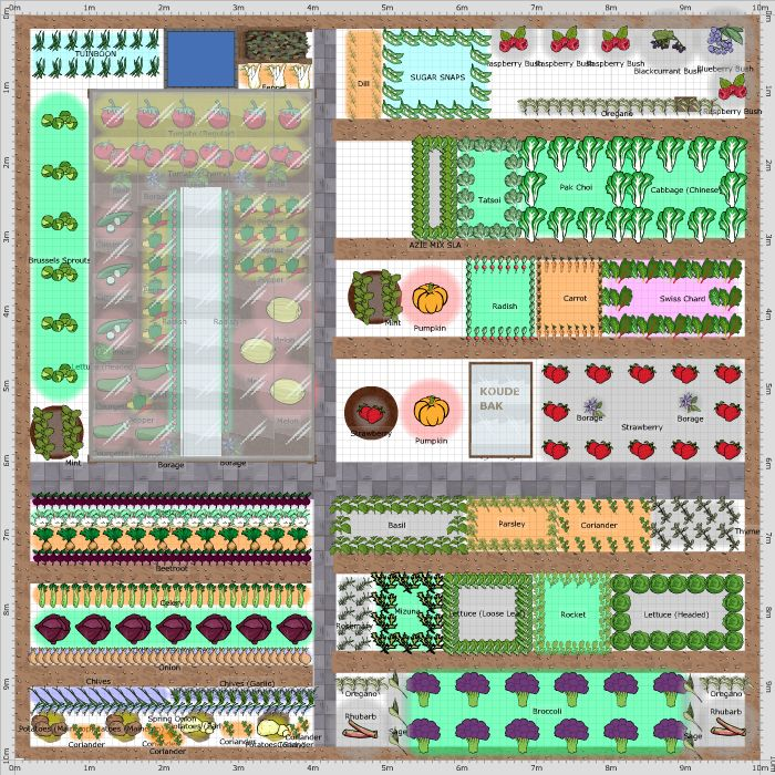 Garden plan 2013 moestuin paden designed by using the for Grow veg planner