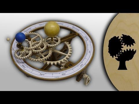 """Video of the hand driven Wooden Tellurion """"Tellurix"""" from Christopher Blasius. Plans are available at holzmechanik.de"""