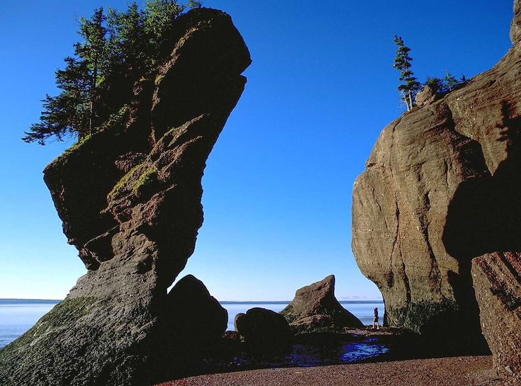 Kayaking in the Bay of Fundy, New Brunswick.
