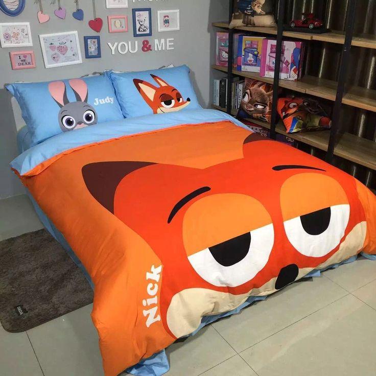 Nick Fox Zootopia Duvet Cover Bedding Sets For Kids
