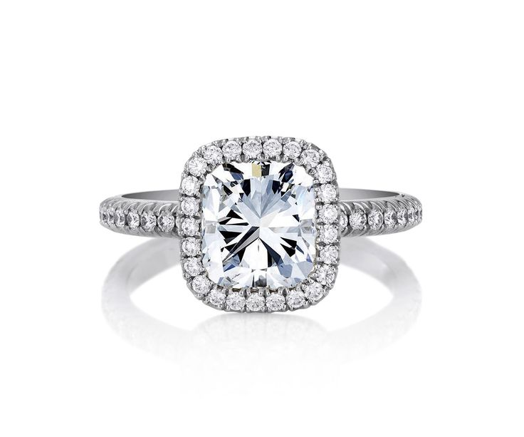 De Beers Aura Cushion Cut Solitaire Ring