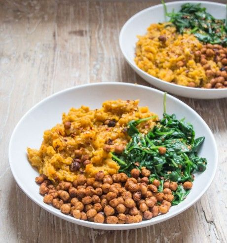 Sweet Potato and Carrot Mash Bowl