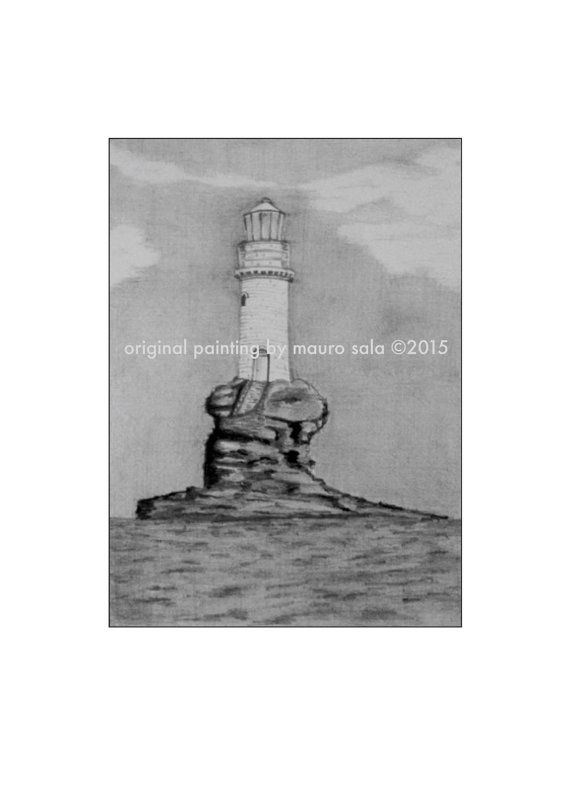 Lighthouse painting  print from the original picture  by NEEDesign