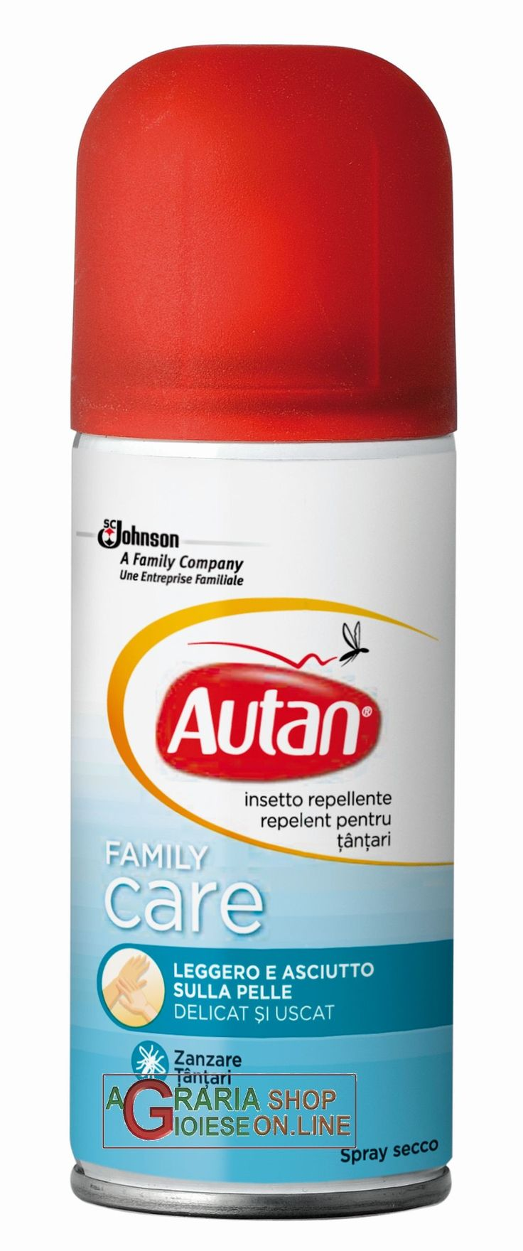 AUTAN FAMILY CARE REPELLENTE SPRAY ANTIZANZARE ML. 100 http://www.decariashop.it/cura-della-persona/758-autan-family-care-repellente-spray-antizanzare-ml-100.html