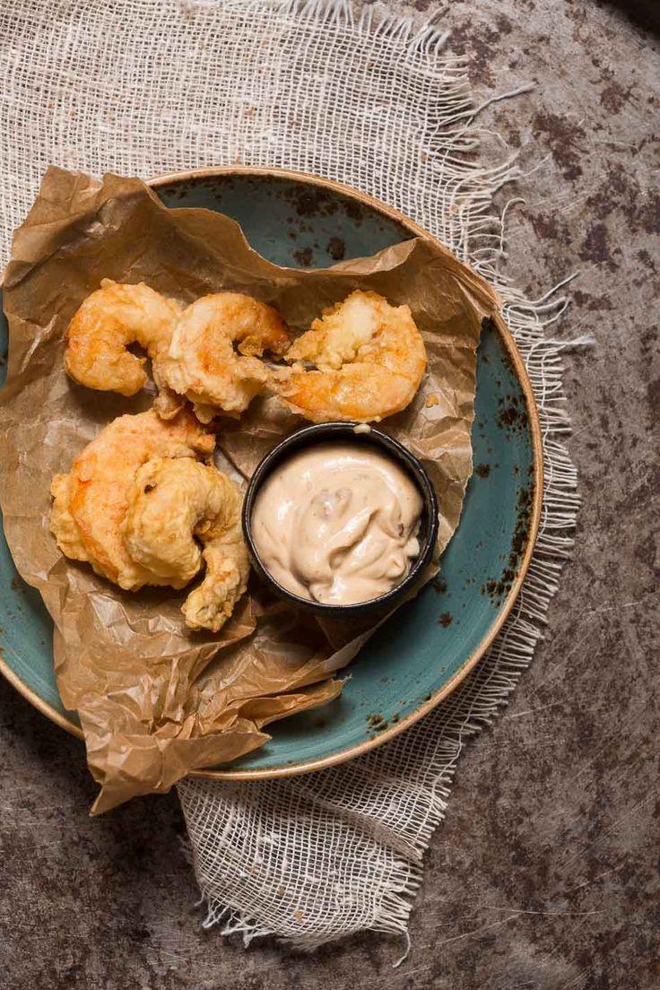 Tempura prawns with chipotle mayo | insimoneskitchen.com