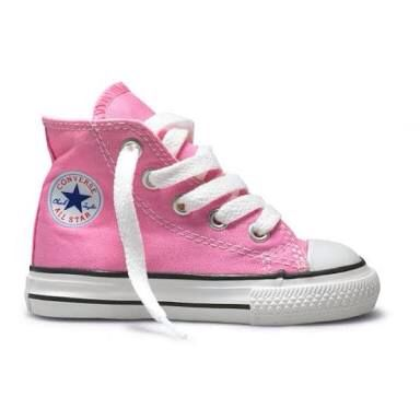 Converse Infant ct Canvas Hi-top in Pink