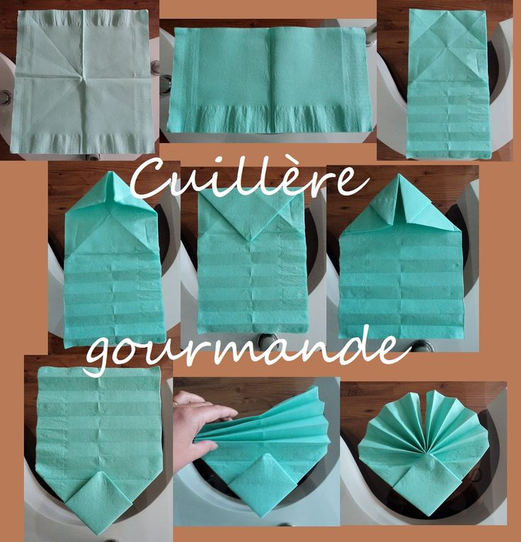17 best images about pliage serviettes et origami on - Pliage serviette coquillage ...