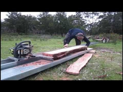 Making and Using a Cheap Chainsaw Mill - YouTube