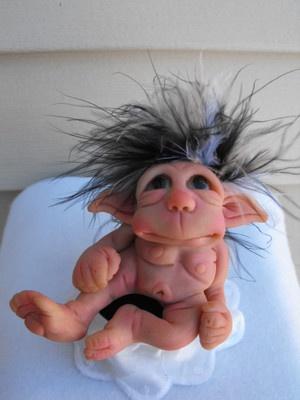 OOAK Polymer Baby Elf Troll Gnome Hobbit Fairy Art Doll Sculpt | eBay