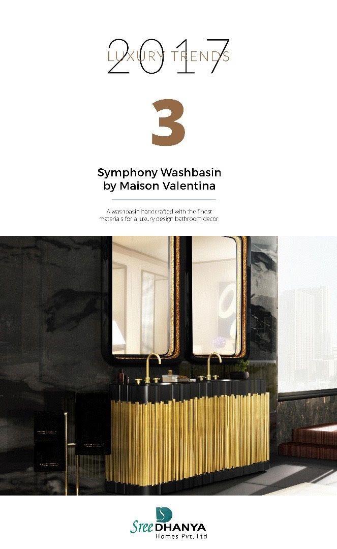 Luxury trends 2017 - Symphony Washbasin :o :o :o #sreedhanyahomes #trends #flats #apartments
