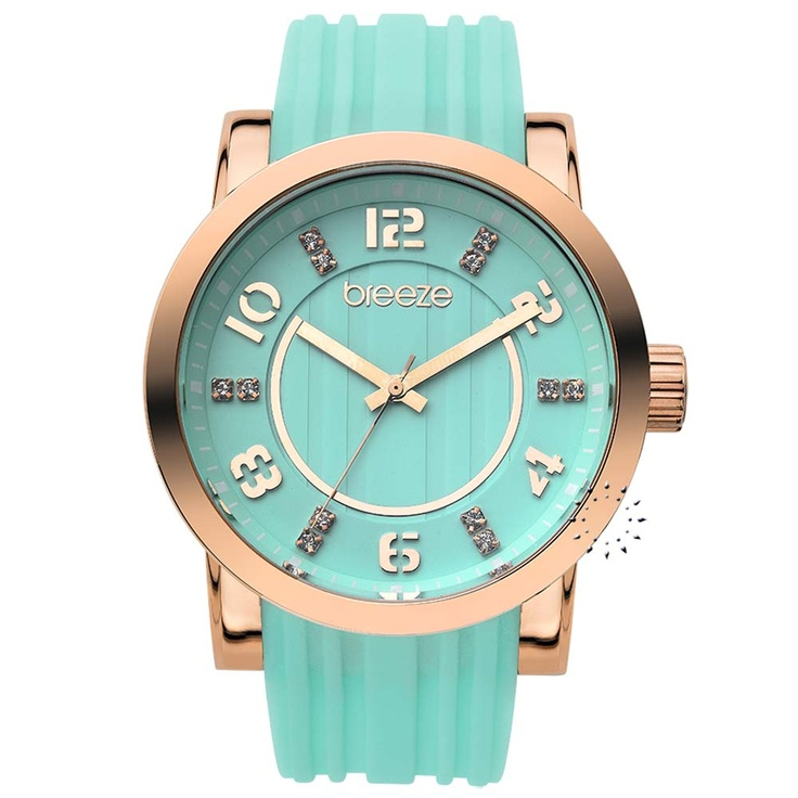 BREEZE Ocean Drive Turquoise Rubber Strap Μοντέλο: 110041.8 Τιμή: 125€ http://www.oroloi.gr/product_info.php?products_id=30526