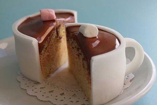 Amazing Hot Chocolate Cupcakes Look Like Cups!