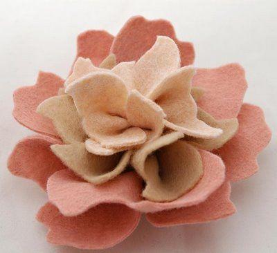 lovely felt flower