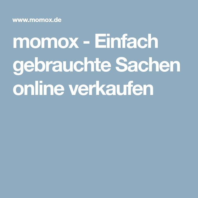 momox - Einfach gebrauchte Sachen online verkaufen