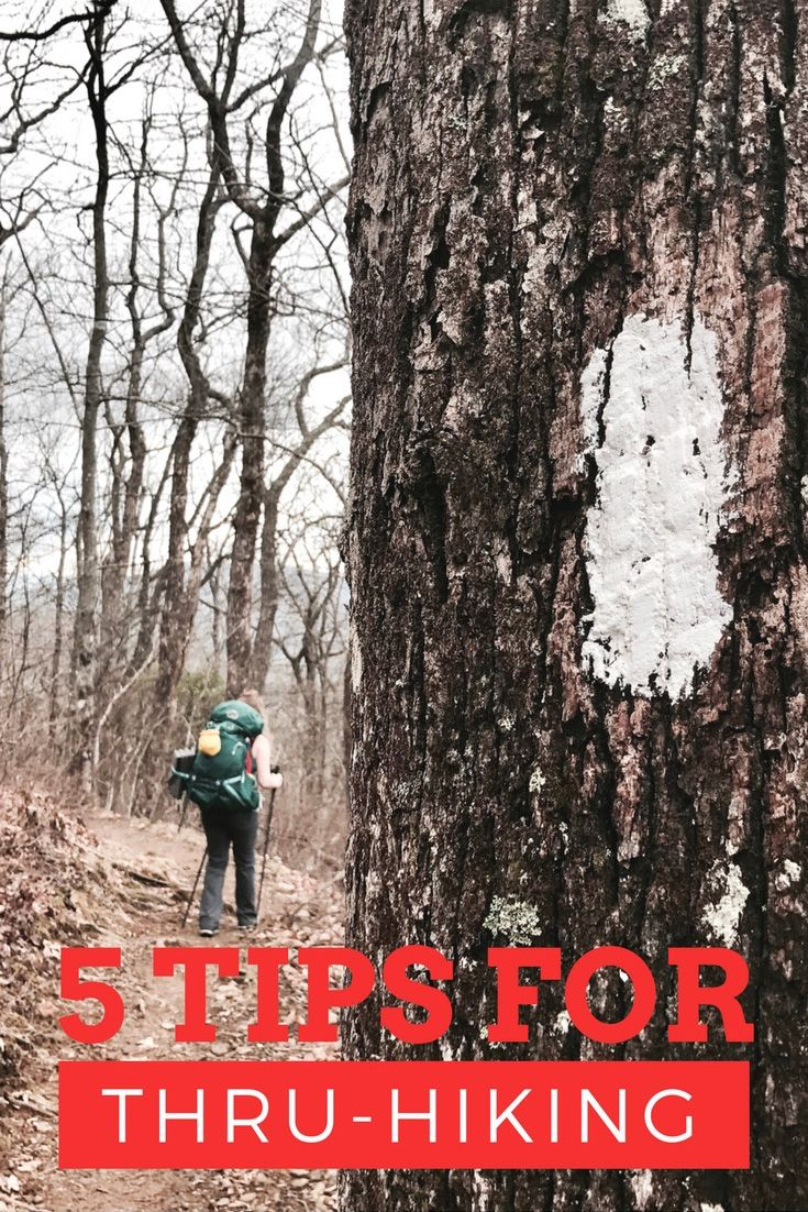 Tips for hikers wanting to thru-hike the PCT, Appalachian trail, CDT, or another long trail.
