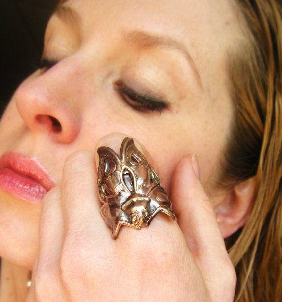 Death's Head Moth Romantic Tattoo Steampunk by PhenomenaJewelry, $32.00