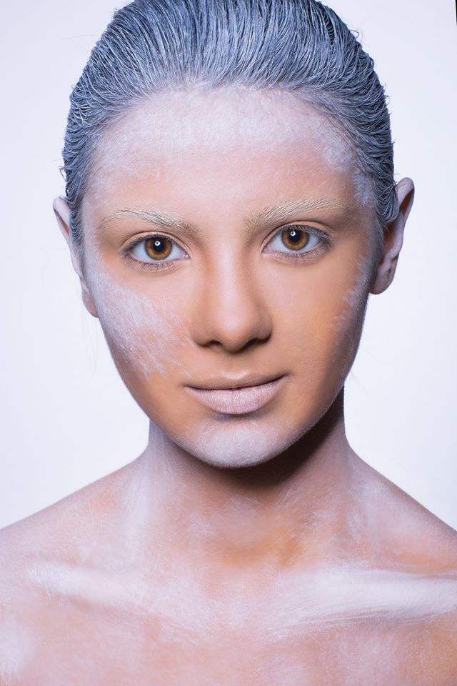 #white #facepaint #base  Published in @ Make-Up Magazine Romania #3-4/14 (09-10) - 6 steps & cover  MUA: Diana Enaiche Photo: Bogdan Dancu Model: Madalina Sinoae