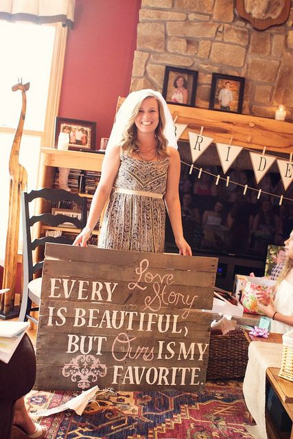 This is such a cute idea for a bridal shower!