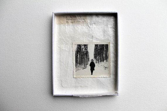Caja de arte Collage técnica mixta por paperiaarre en Etsy