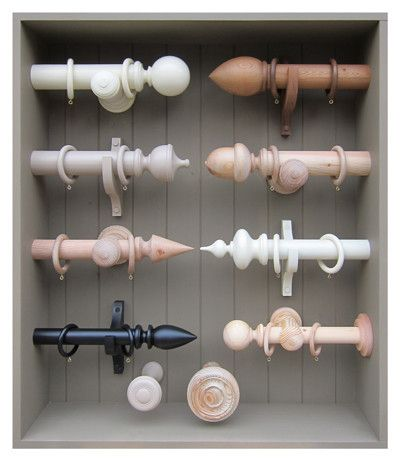 'CREAMORE MILL' WOODEN CURTAIN POLES & HOLDBACKS - available at www.homeenvyltd.com