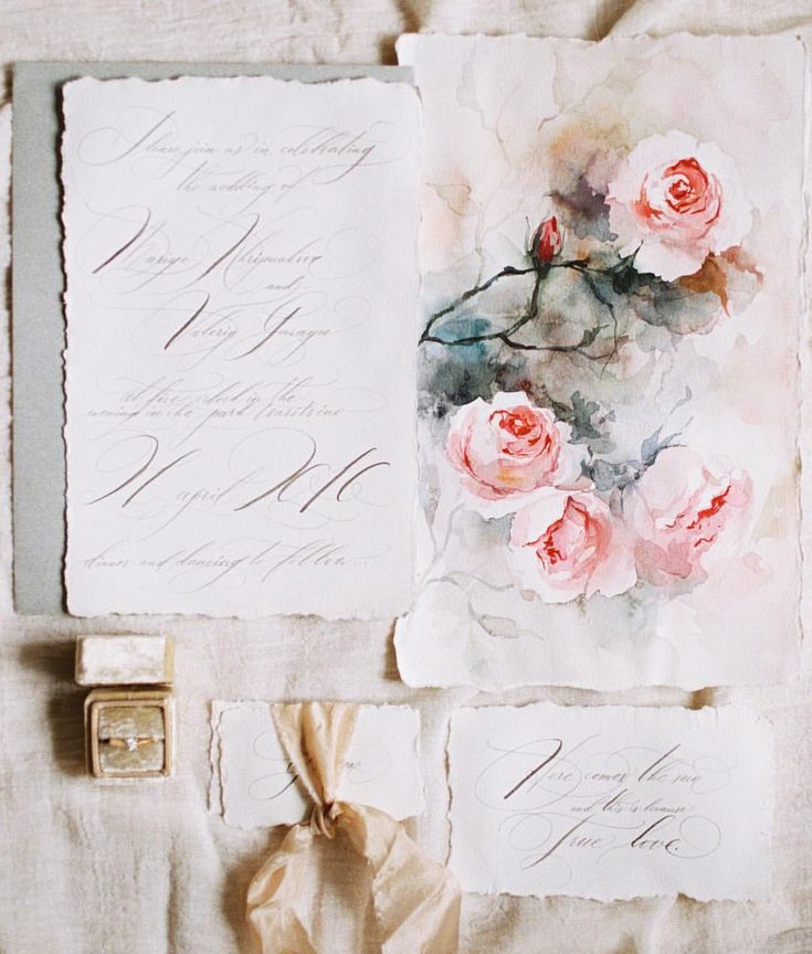 Inspiration for wedding invitations - love the vintage look of this invitation suite.
