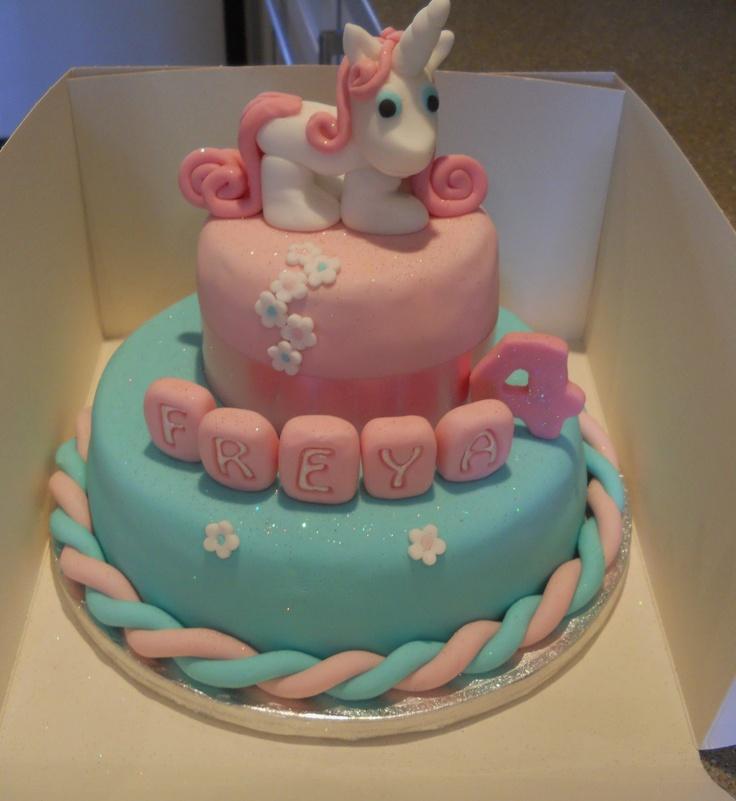 unicorn cake - Little girls unicorn cake. thx 4 looking