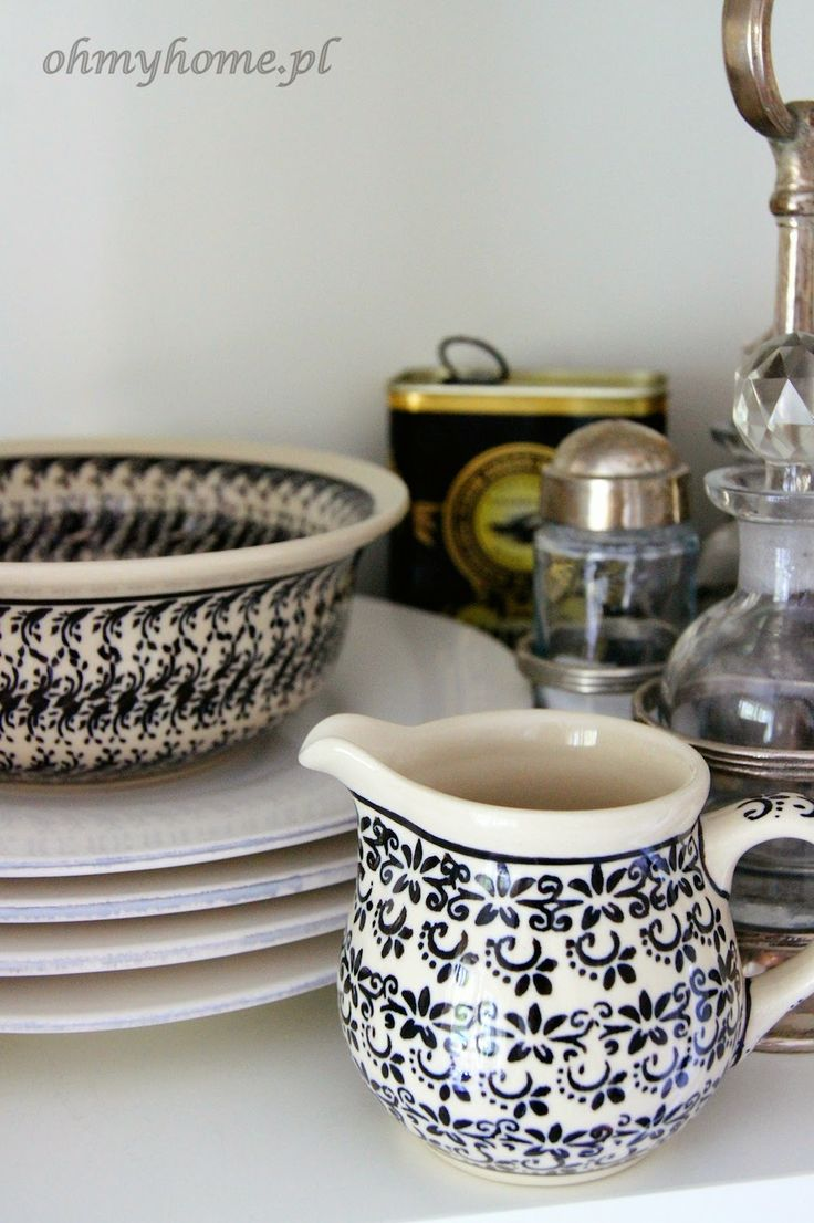 Creamer by Polish pottery - love this romantic pattern! : polish dinnerware sets - Pezcame.Com