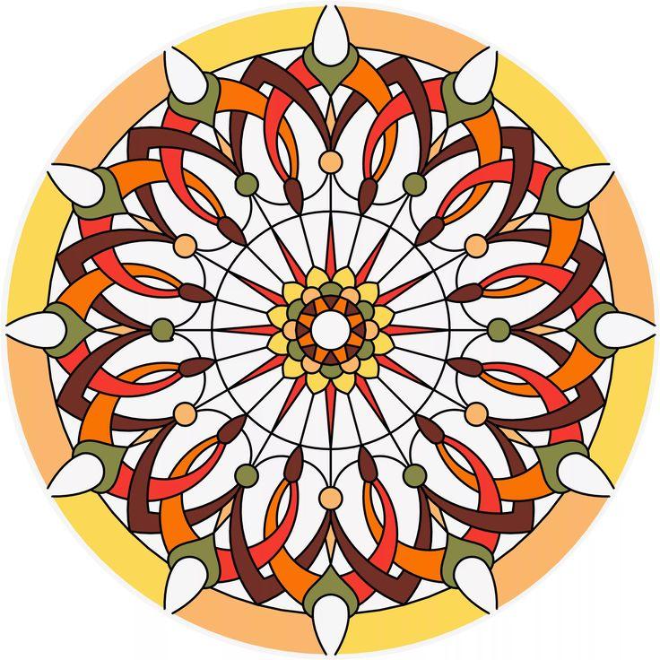 орнамент в круге цветы заливной витраж 11 тыс изображений