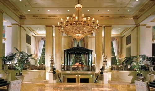 It's so beautiful!  I love the architecture! Waldorf-Astoria Hotel, NYC