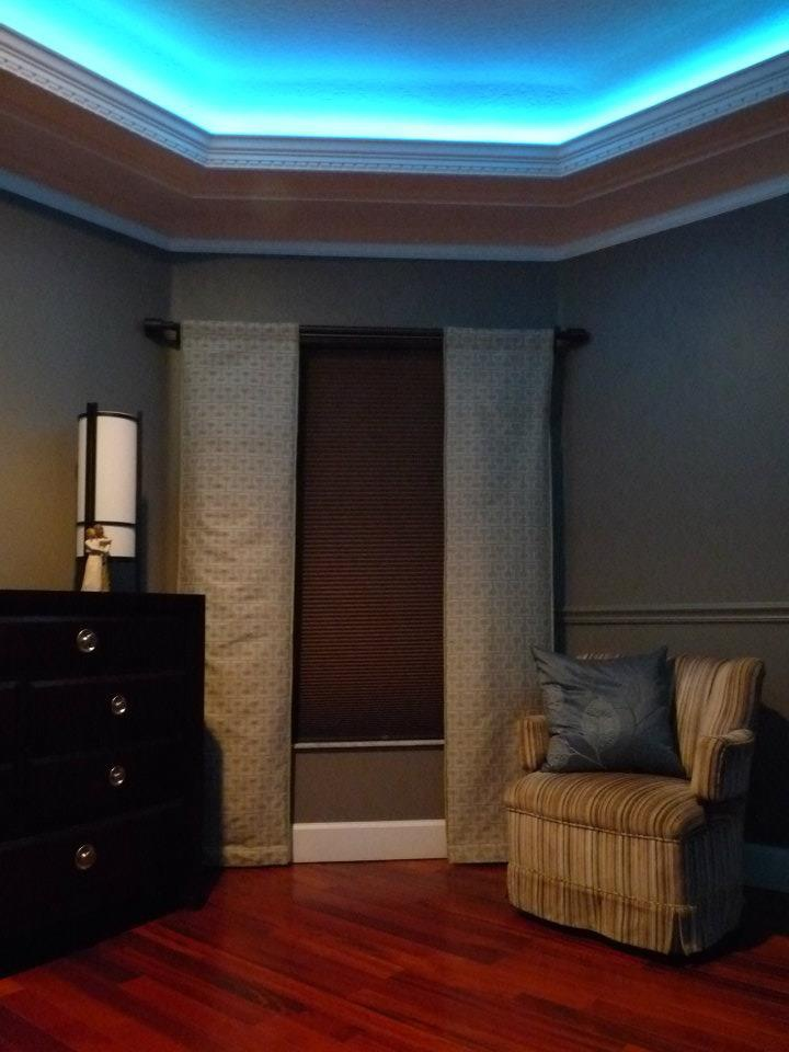 Crown Molding with LED up lighting. Basement Pinterest