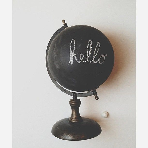 chalkboard globe diy