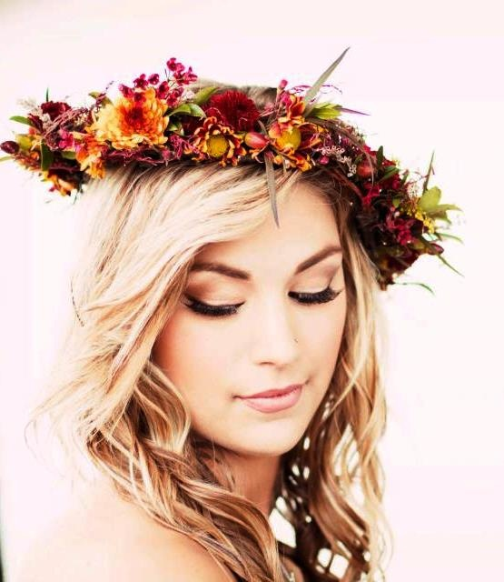 Bride's Fall flower crown: Fall Flowers, Wedding Ideas, 26 Flower, Wedding Crowns, Brides, Fall Flower Crown, Flower Crowns Wreaths, Floral Crowns, Fall Wedding