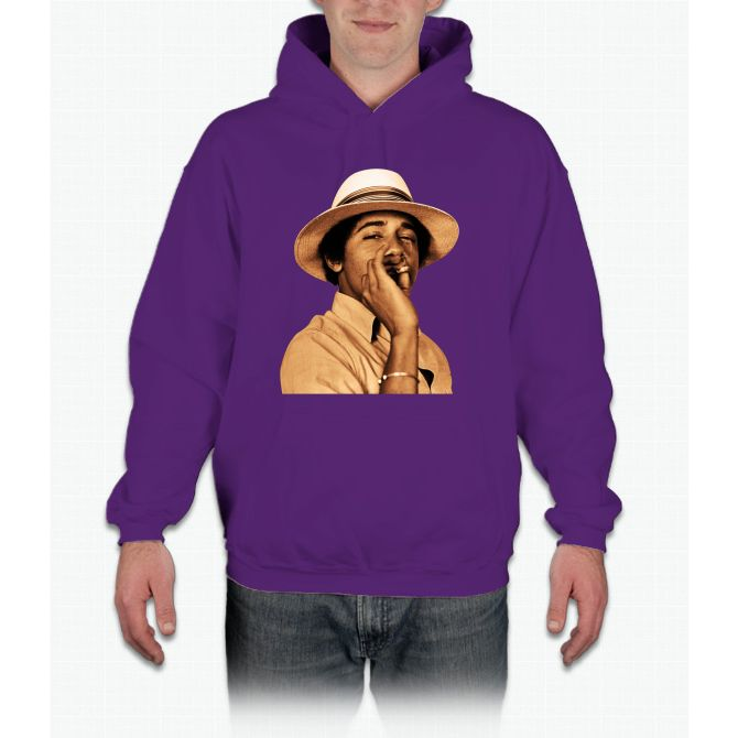 young obama smoke classic Hoodie