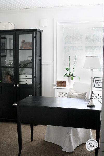 kontor,skrivbord,persienn,new england
